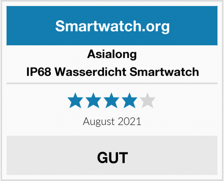 Asialong IP68 Wasserdicht Smartwatch Test
