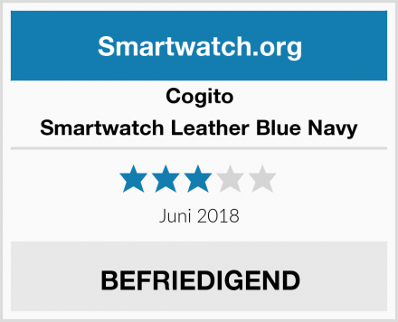 Cogito Smartwatch Leather Blue Navy Test