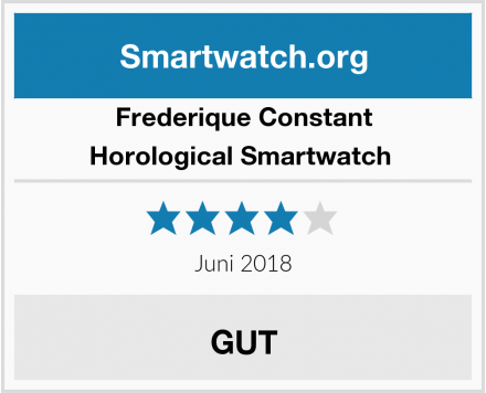 Frederique Constant Horological Smartwatch  Test