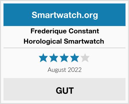Frederique Constant Horological Smartwatch  Test