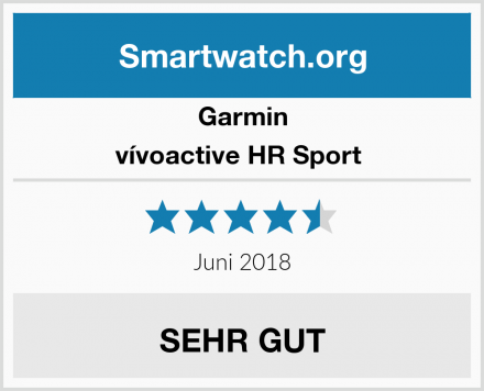 Garmin vívoactive HR Sport  Test