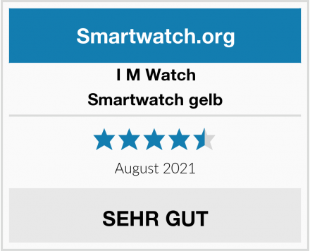 I M Watch Smartwatch gelb Test