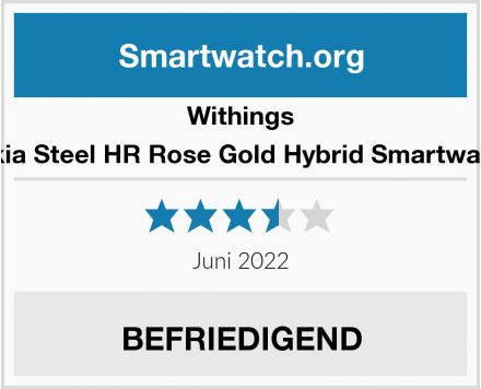 Withings Nokia Steel HR Rose Gold Hybrid Smartwatch  Test