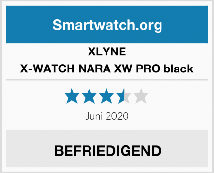 XLYNE X-WATCH NARA XW PRO black Test