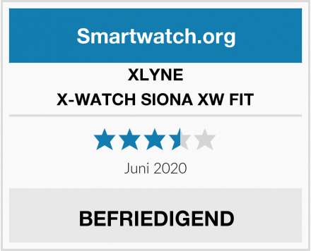 XLYNE X-WATCH SIONA XW FIT Test