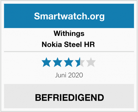 Withings Nokia Steel HR  Test