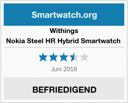 Withings Nokia Steel HR Hybrid Smartwatch  Test