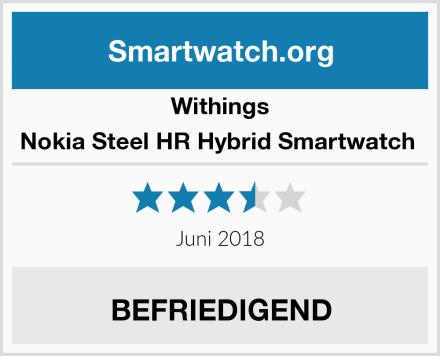 Withings Nokia Steel HR Hybrid Smartwatch  Test