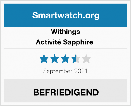Withings Activité Sapphire  Test