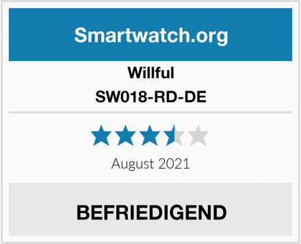 Willful SW018-RD-DE Test