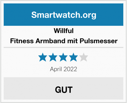 Willful Fitness Armband mit Pulsmesser Test