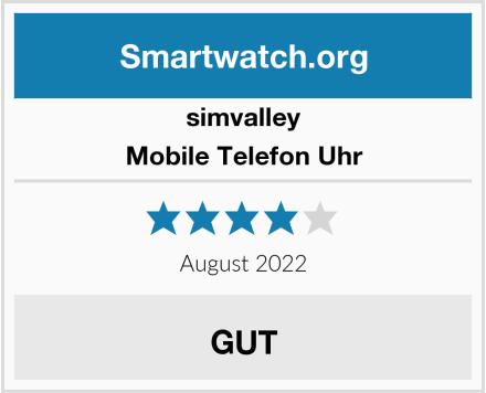 simvalley Mobile Telefon Uhr Test