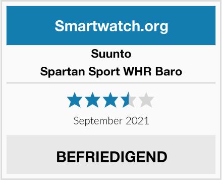 Suunto Spartan Sport WHR Baro Test