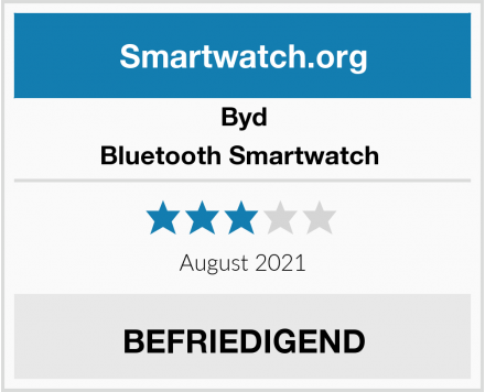 Byd Bluetooth Smartwatch  Test