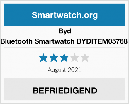 Byd Bluetooth Smartwatch BYDITEM05768  Test