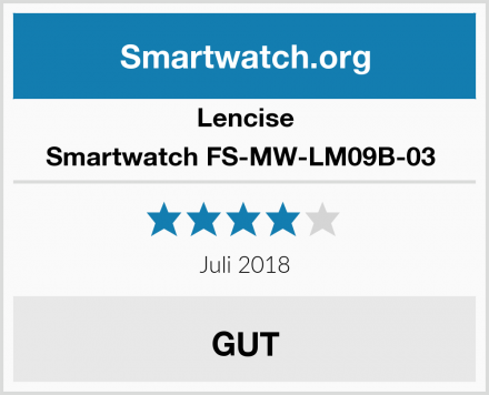 Lencise Smartwatch FS-MW-LM09B-03  Test