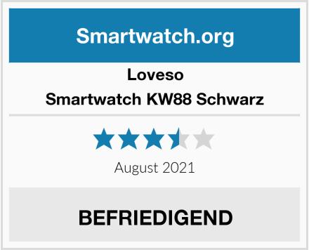 Loveso Smartwatch KW88 Schwarz Test