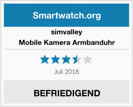 simvalley Mobile Kamera Armbanduhr Test