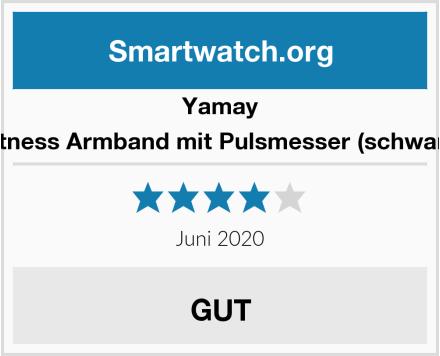 Yamay Fitness Armband mit Pulsmesser (schwarz) Test