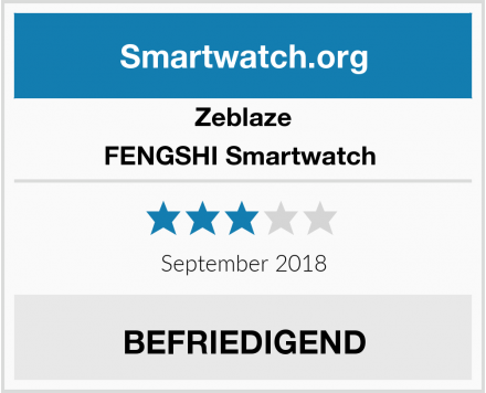 Zeblaze FENGSHI Smartwatch  Test