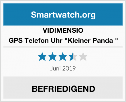 "VIDIMENSIO GPS Telefon Uhr ""Kleiner Panda "" Test"