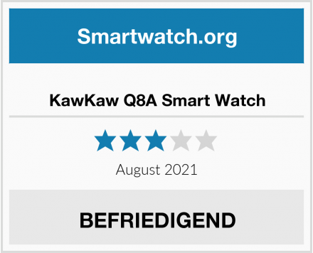 KawKaw Q8A Smart Watch Test