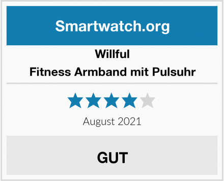 Willful Fitness Armband mit Pulsuhr Test