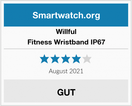 Willful Fitness Wristband IP67 Test