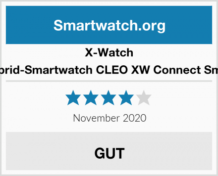 X-Watch 54033 Hybrid-Smartwatch CLEO XW Connect Smartwatch Test