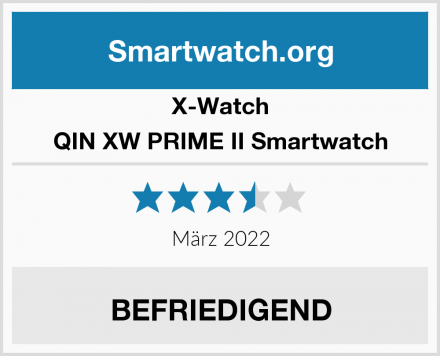 X-Watch QIN XW PRIME II Smartwatch Test