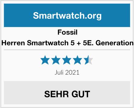 Fossil Herren Smartwatch 5 + 5E. Generation Test