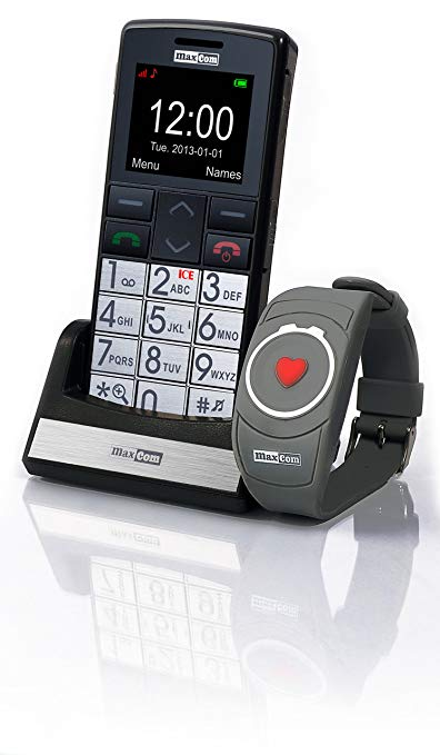 Maxcom MM 715 Großtasten Handy mit Notrufarmband