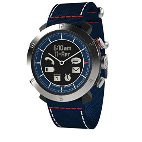 Cogito Smartwatch Leather Blue Navy
