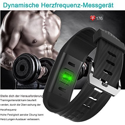 yamay fitness armband mit pulsmesser smartwatch test 2018. Black Bedroom Furniture Sets. Home Design Ideas